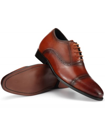 BROGUE V BROWN - 6.75cm