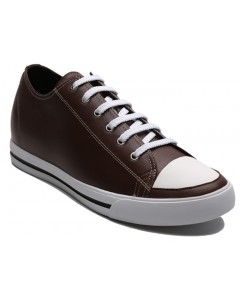 HANS LEATHER BROWN - 6.25cm - UK 9